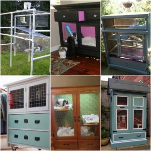 9 DIY Rabbit Hutches From Upcycled Furniture