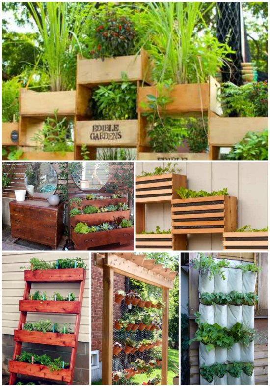 Vertical Gardening Ideas 5 step wooden plant closet 16 Vertical Garden Ideas For Your Home