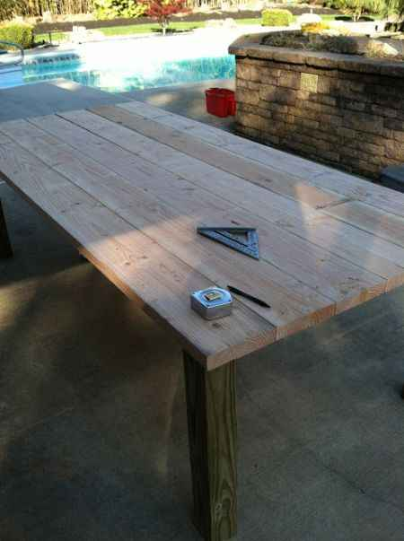2 Diy Outdoor Dining Room Tables