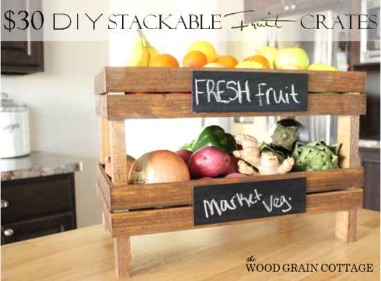 Countertop Vegetable Bin : 21 DIY Fruit And Veggie Storage Ideas