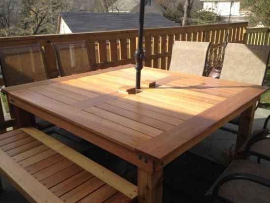 18 diy outdoor dining room tables. Black Bedroom Furniture Sets. Home Design Ideas