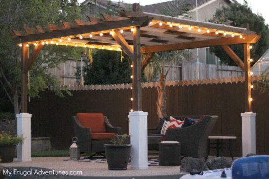 Simple Backyard Pergola