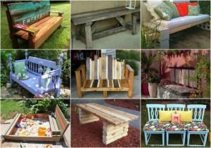 18 Impressive DIY Garden Benches