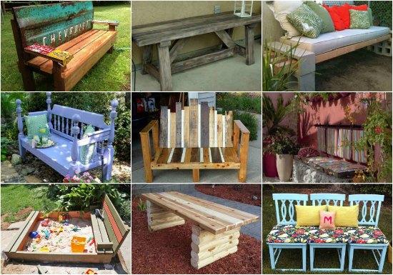 diy-impressive-garden-benches