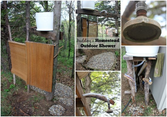 diy outdoor shower for your homestead