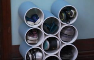 How To Make A DIY PVC Shoe Rack