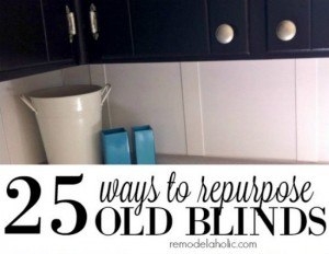 25 Ways To Repurpose Old Blinds