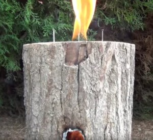 How To Make A Rocket Stove Out Of A Log