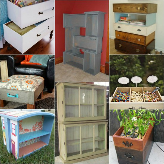 20 Diy Ways To Repurpose Dresser Drawers For Your Home