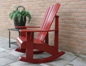 DIY Adirondack Rocking Chair Tutorial
