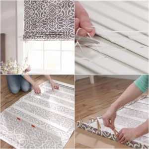 How To Turn Mini Blinds Into Roman Shades (Tutorial)