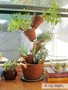 DIY Stacked Herb Garden Planter
