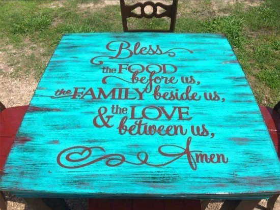 This table decal is one of many great holiday gift ideas.