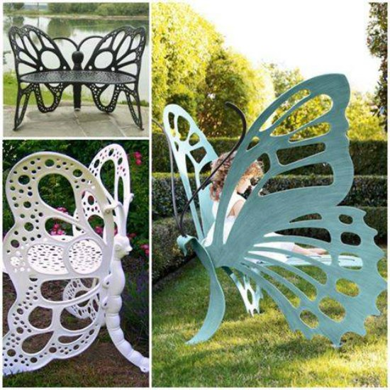 This butterfly bench is one of many great holiday gift ideas.