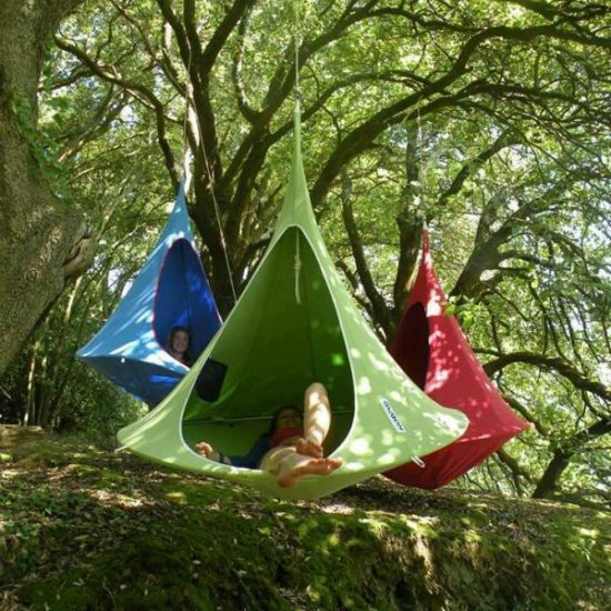 This hanging chair tent is just one of many holiday gift ideas.