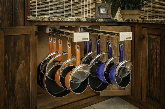This cookware organizer is one of many great holiday gift ideas.