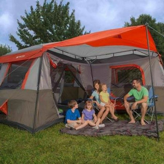 This large tent with a patio is just one of many holiday gift ideas.