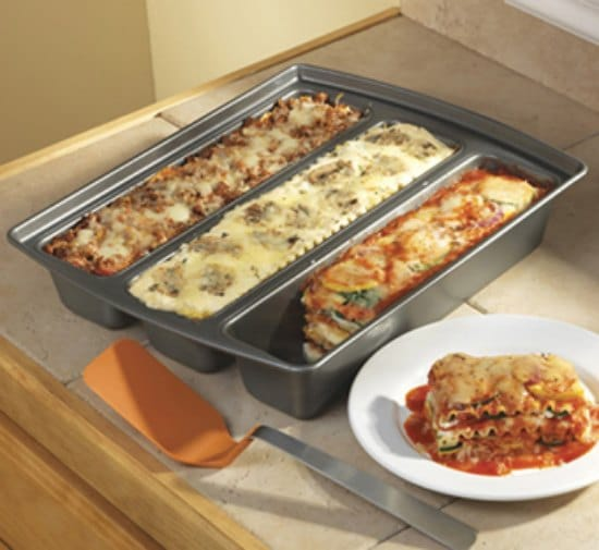 This lasagna trio pan is just one of these many great holiday gift ideas.