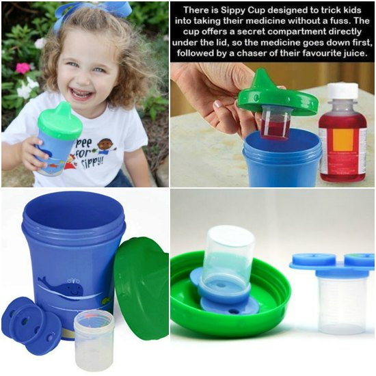 This medicine dispensing sippy cup is one of many great holiday gift ideas.