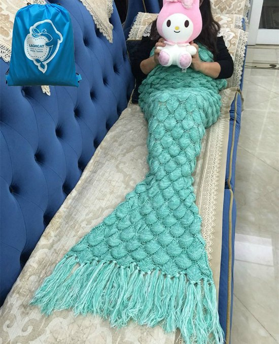 This mermaid tail blanket is just one of these many great holiday gift ideas.