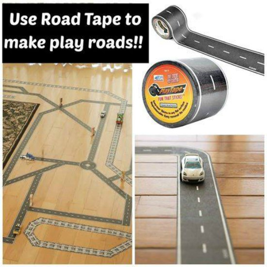 This play road tape is just one of many holiday gift ideas.