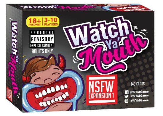 This Watch Ya Mouth game is one of many great holiday gift ideas.
